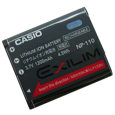 Camera, Drone & Photo Accessories Genuine CASIO NP-110 Battery ...