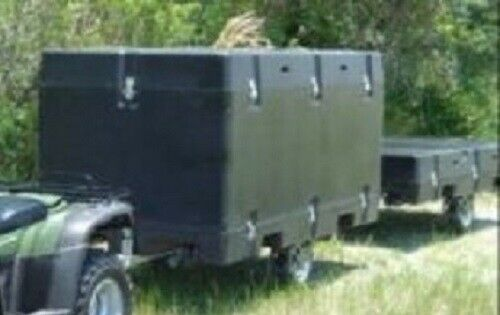 AdvanTac ARC MILITARY Collapsible Composite Light Weight Cargo Camping Trailer