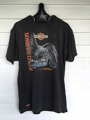 Sistematico Vintage 90's Harley Davidson 3d Emblema T-shirt Taglia Xxl Xxl Made In Usa Da Processo Scientifico