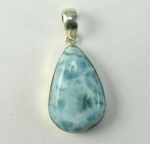 Dominican-Larimar-Necklaces-Blue-925-silver-Pendant-Stone-45-05-mm-13-8-G-A593