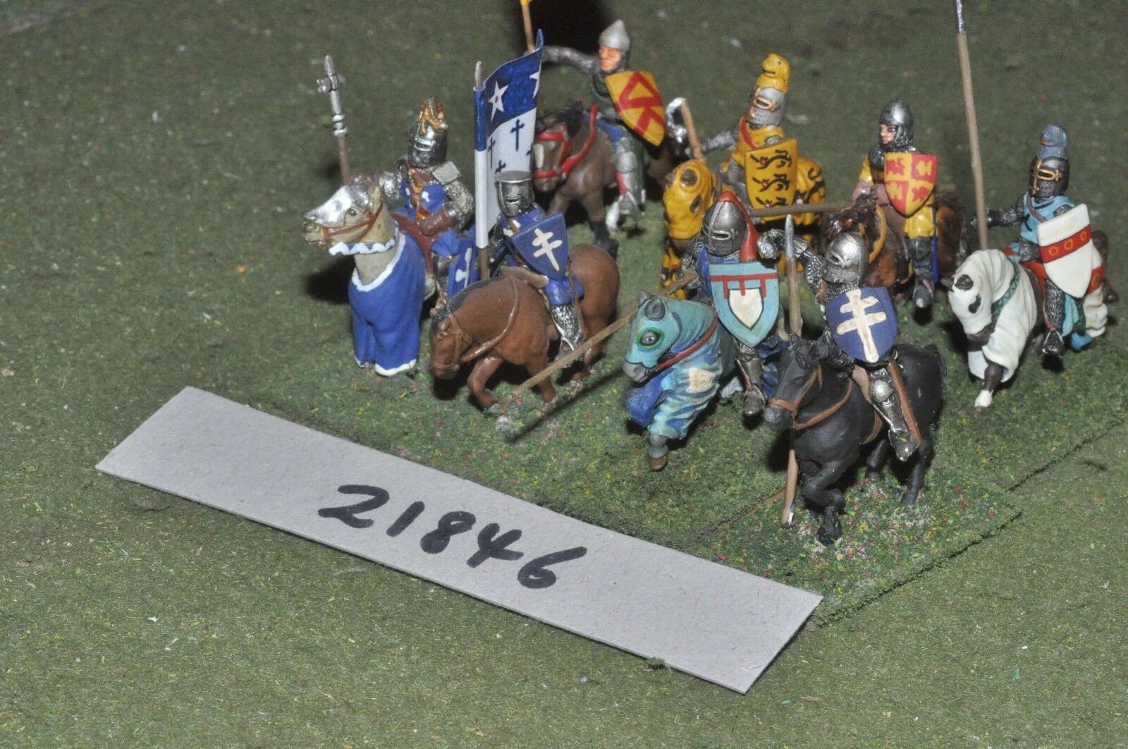 25mm medieval   english - men at arms 8 figs cavalry - cav (21846)