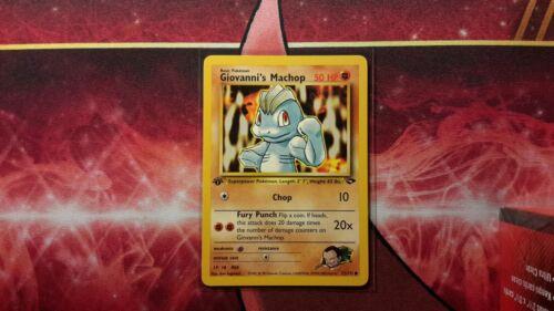 Giovanni/'s Machop 1st Edition Gym Challenge Pokemon Card LP