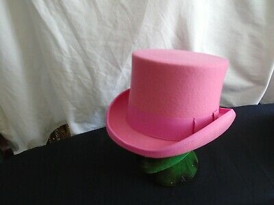 Pink Top Hat Mens Ladies Wool Large Size 59cm Theatre Show Ebay