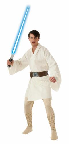 Size Standard NEW Luke Skywalker Costume Adult Star Wars Halloween Fancy Dress