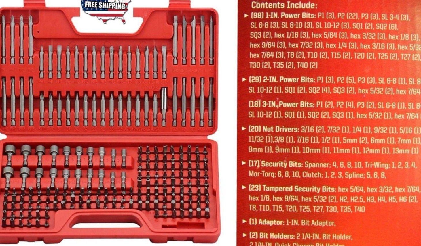 Multibit Screwdriver Set 208 Pcs Torx Phillips Hex Slotted Home Hand Tools Case