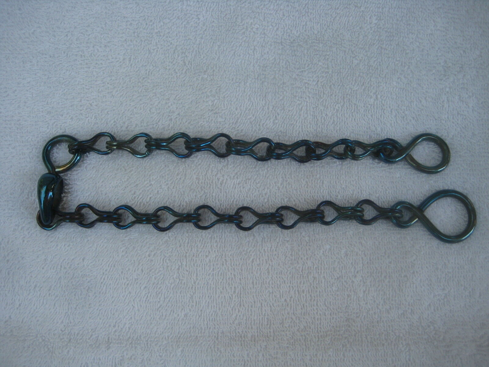 Rein Chains (bit, horse, bridle)   BBR-05 18  with Oval swivel,  blueed  for cheap