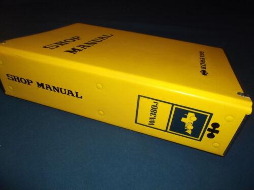 KOMATSU WA380-1 WHEEL LOADER SERVICE SHOP REPAIR BOOK MANUAL OEM ORIGINAL