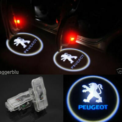 2PCS Ghost Shadow  Projector Door Logo Light For Peugeot 206 306 307 407 508 RCZ