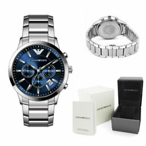 EMPORIO-ARMAN1-AR2448-MENS-WATCH-BLUE-DIAL-STAINLESS-STEEL-WITH-3-YEARS-WARRANTY