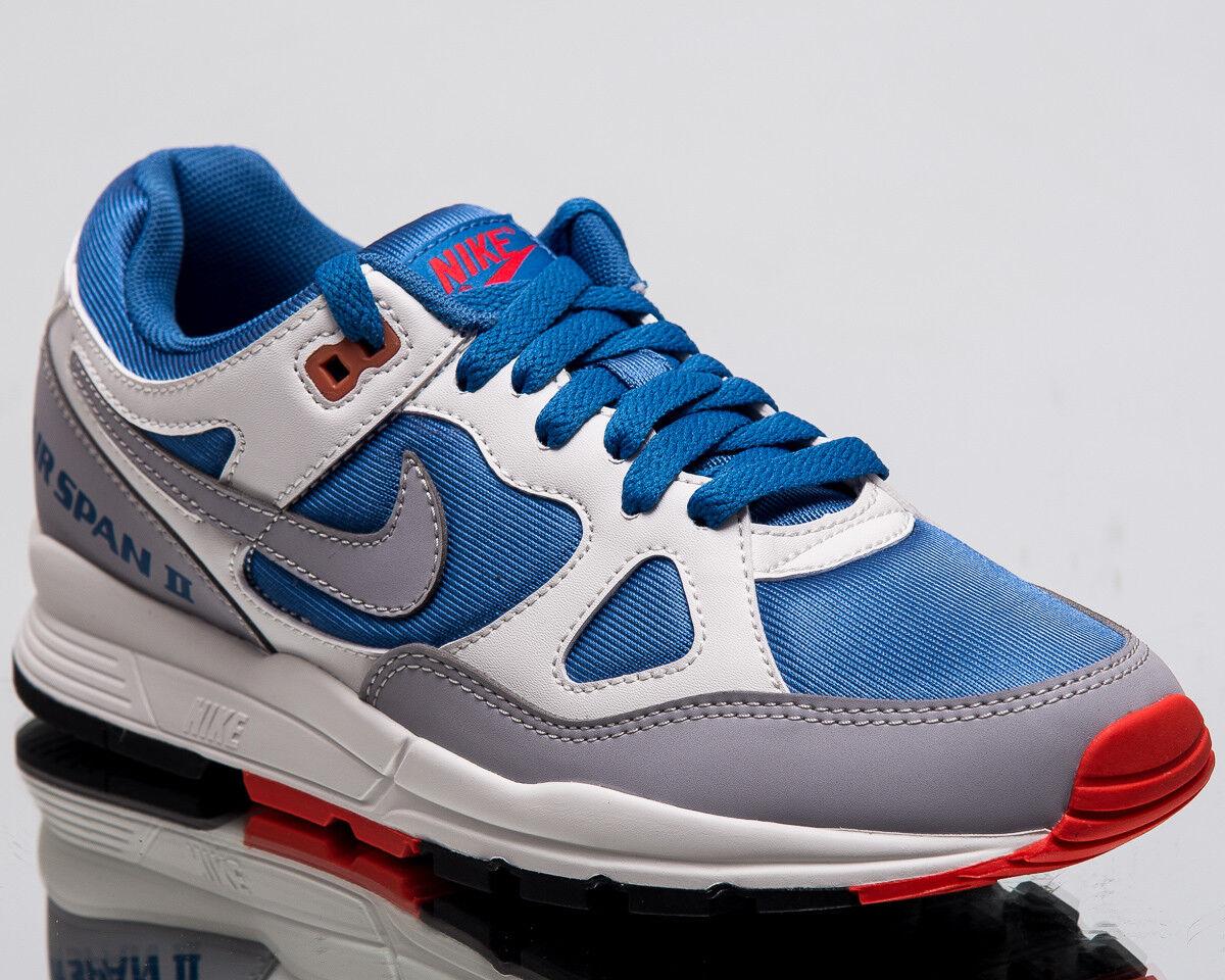 Nike Wmns Air Span II Women New Mountain Blue Grey Lifestyle Sneakers AH6800-400