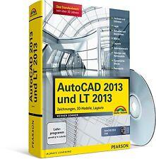 AutoCAD 2013 und LT 2013 Kompendium, 1120 Seiten 1 DVD, Markt & Technik NEU