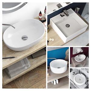 Lavabo bagno bacinella da appoggio in ceramica vari modelli design moderno ebay - Ceramica bagno moderno ...