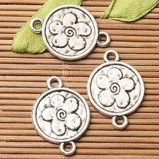 20pcs dark silver color leaf branch design link connector EF2686