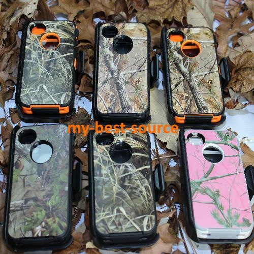 For Apple iPhone 4/4S Case Camouflage Realtree [Clip Fits Otterbox Defender]