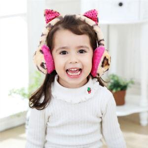 Kids-Adult-Winter-Earmuffs-Girls-Thick-Plush-Leopard-Ear-Warmer-With-Ears-Gift