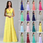 Classical V-neck Chiffon Evening Formal Party Prom Bridesmaid Dress Size 6+++18