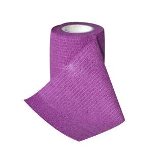 Elastic-Bandage-Gauze-First-Aid-Wounds-Dressing-Wrap-Purple-7-5cm-4-5m-3