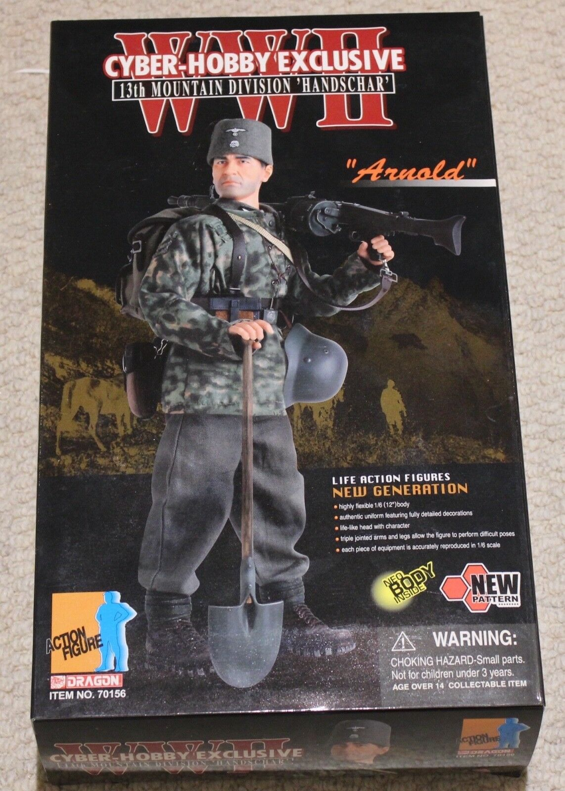 dragon action figure 1/6 ww11 german arnold 13th 12'' boxed did cyber hot toy