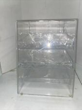 3 Sliding Tray Bakery Counter Display Case Rear Door Donut Pastry Cookie Store