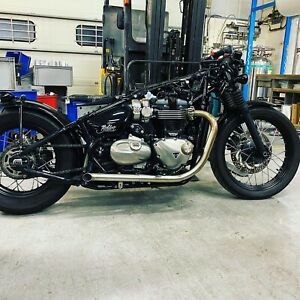 Triumph Bobber Drag Pipes by Hitchcox motorcycles