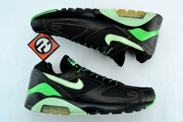 d80fcfc70 Nike Air Max 180 Black MINT Poison Green Size 13 2005  310155 031 for sale  online