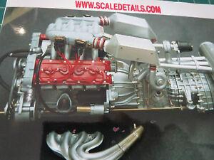 Pocher-1-8-Escala-Ferrari-F40-Completo-Motor-Transkit-Super-Detalle-400-Piezas