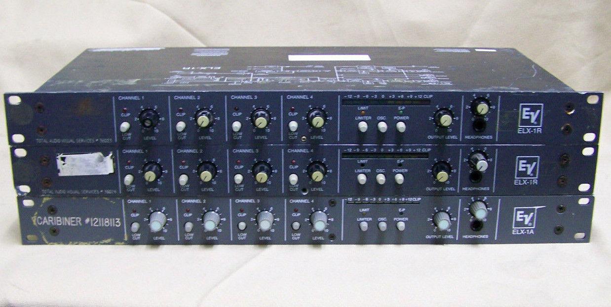 Lot 3 EV ELX Mixers Electro Voice 2 ELX-1R Mic Line OSC Limiter & 1  ELX-1A