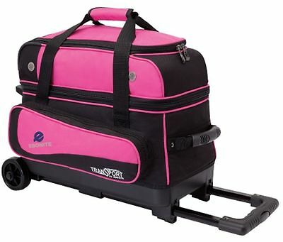 Ebonite Transport 2 Ball Roller Bowling Bag With Wheels Pink 5 Year Warranty Ebay