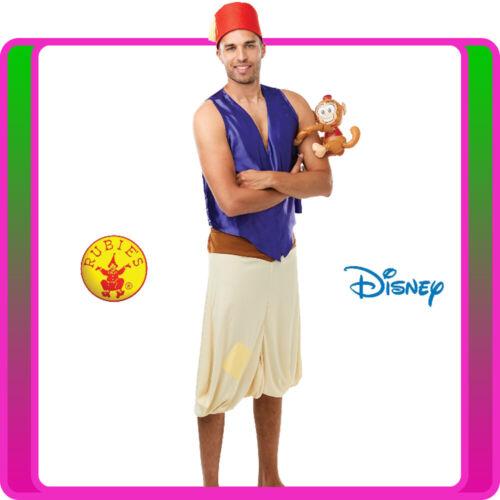 Mens Disney Aladdin Costume Genie Arabian Prince Halloween Live Action Book Week