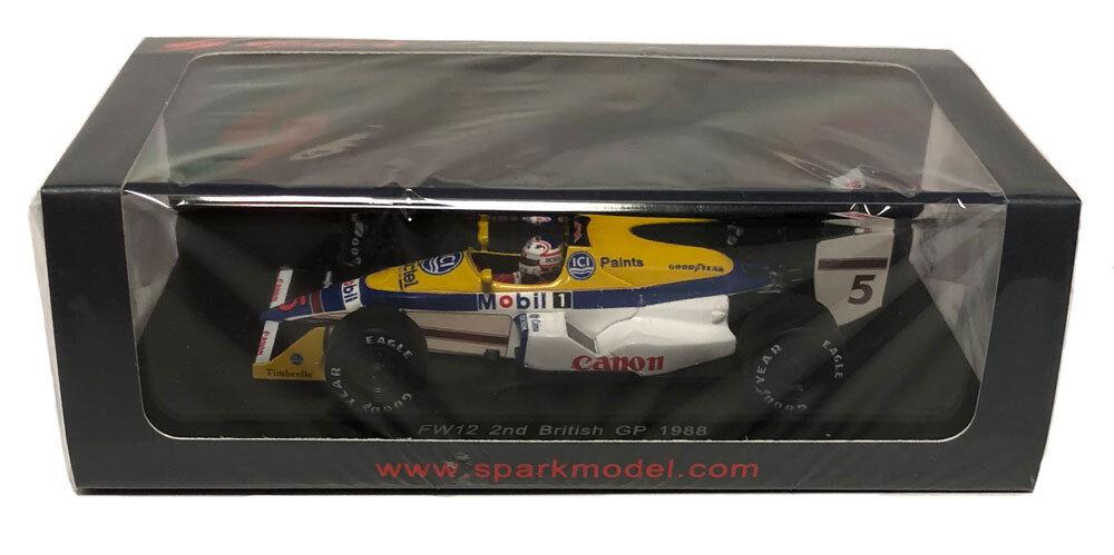 Spark Williams FW12 2nd British GP 1988-Nigel Mansell échelle 1 1 1 43 1cb01f
