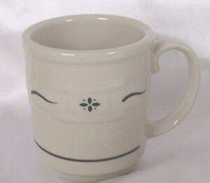 EUC Longaberger Woven Traditions Heritage Green Coffee Mug