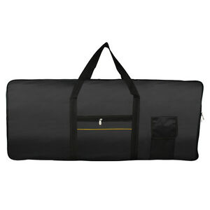 Portable-61Key-Keyboard-Electric-Piano-Padded-Case-Gig-Bag-Advanced-Fabric-Black