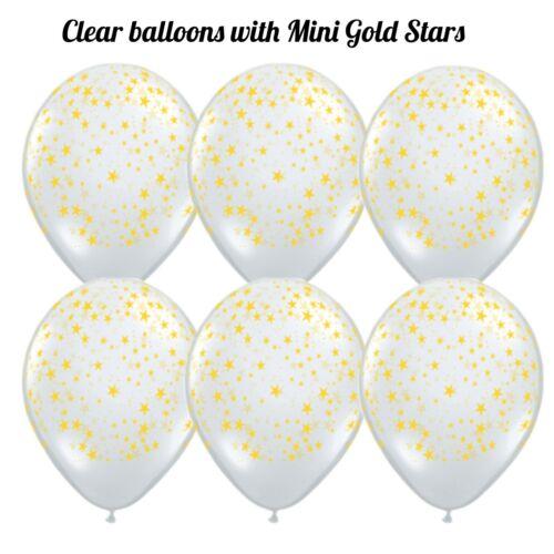 Space Theme 6 PC Latex Balloon Party Kit Mini Stars Balloons Party Backdrop