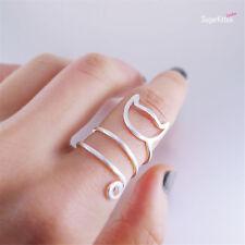 925 Sterling Silver Lovely Cat Kitten Long Tail Wrap Ring UK Size O Adjustable