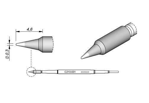C105-103 0.3mm JBC Tools Nano Soldering Cartridge