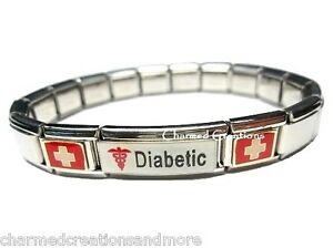 Image Is Loading Diabetic Diabetes Insulin Superlink 9mm Italian Charm Medical