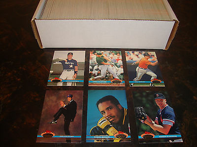 1991 Stadium Club Baseball---Complete Set---1-600---Includes Bagwell RC--NrMt-Mt