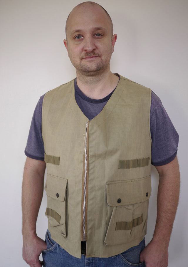 Vintage 1950s WEATHERITE Hunting Fishing Camping Japanese VEST Mens M