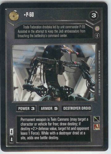 STAR WARS CCG CORUSCANT DS RARE P-60