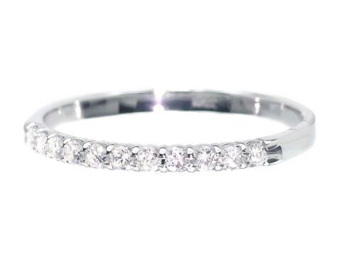 10k Womens White Gold Diamond Wedding Engagement Anniversary Band Ring 1//5 ct