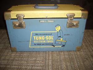 VINTAGE-TUNG-SOL-ELECTRON-TUBES-RADIO-TELEVISION-TUBE-REPAIRMAN-CASE-BOX