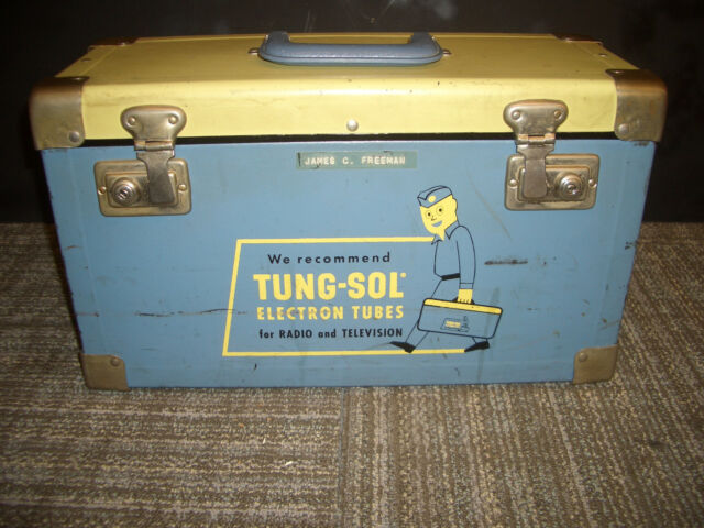 VINTAGE TUNG-SOL ELECTRON TUBES RADIO TELEVISION TUBE REPAIRMAN CASE BOX
