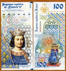 Kingdom-of-France-100-Francs-2020-private-Issue-Philip-IV