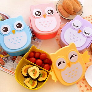 1050ML-Owl-Lunch-Box-Bento-food-safe-Plastic-Food-Picnic-Container-Portable-S-Z1