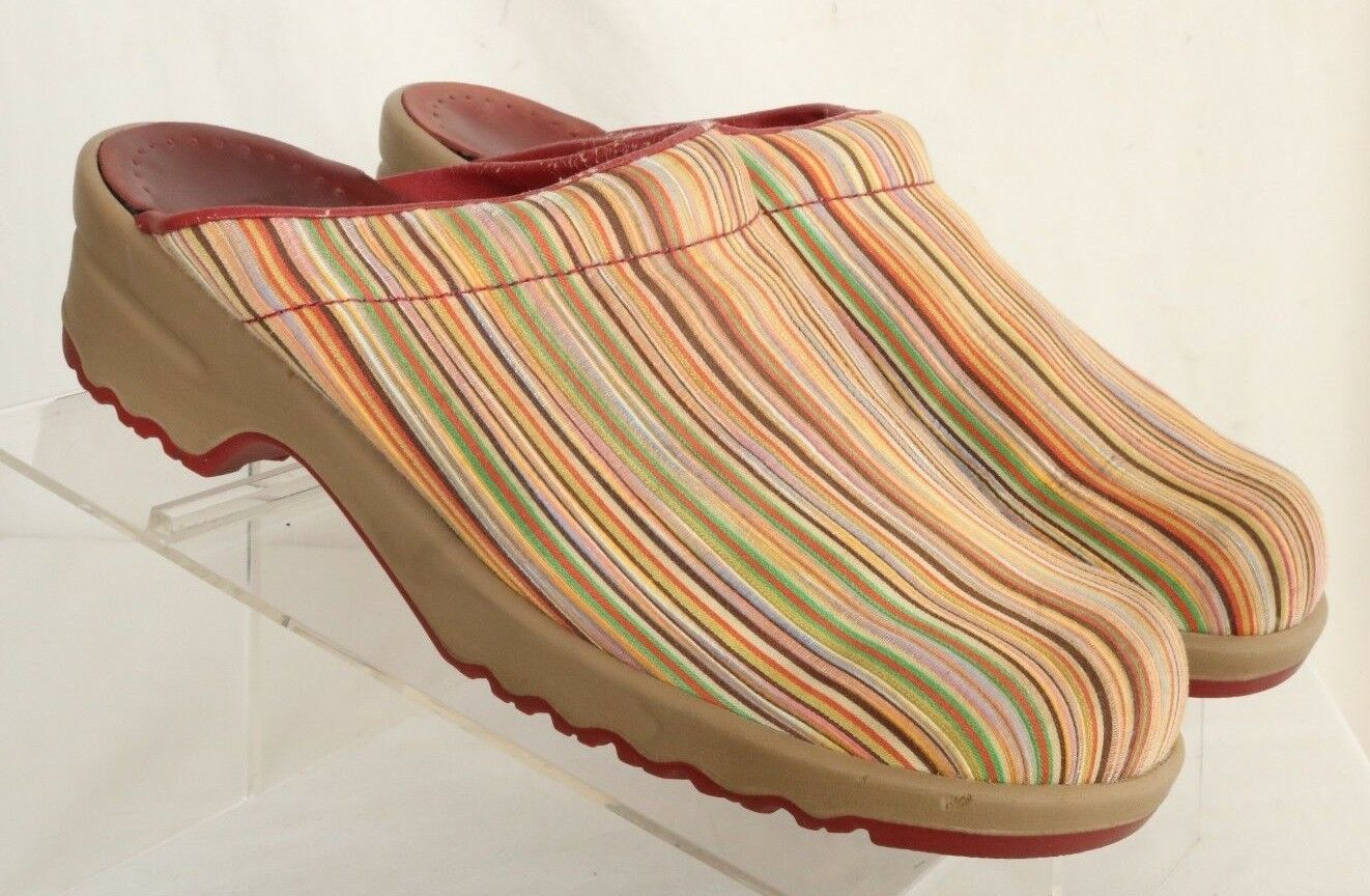 Sanita Striped Nursing Multi-color Mules Clogs Women's EURO 41 (US 10.5)