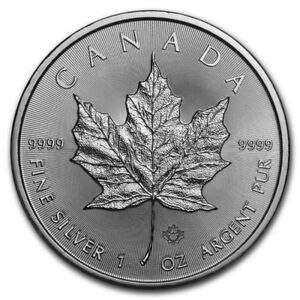 2019 1 Oz Canadian Silver Maple Leaf 5 Coin 1 Troy Ounce Of 9999 Fine Silver Ebay