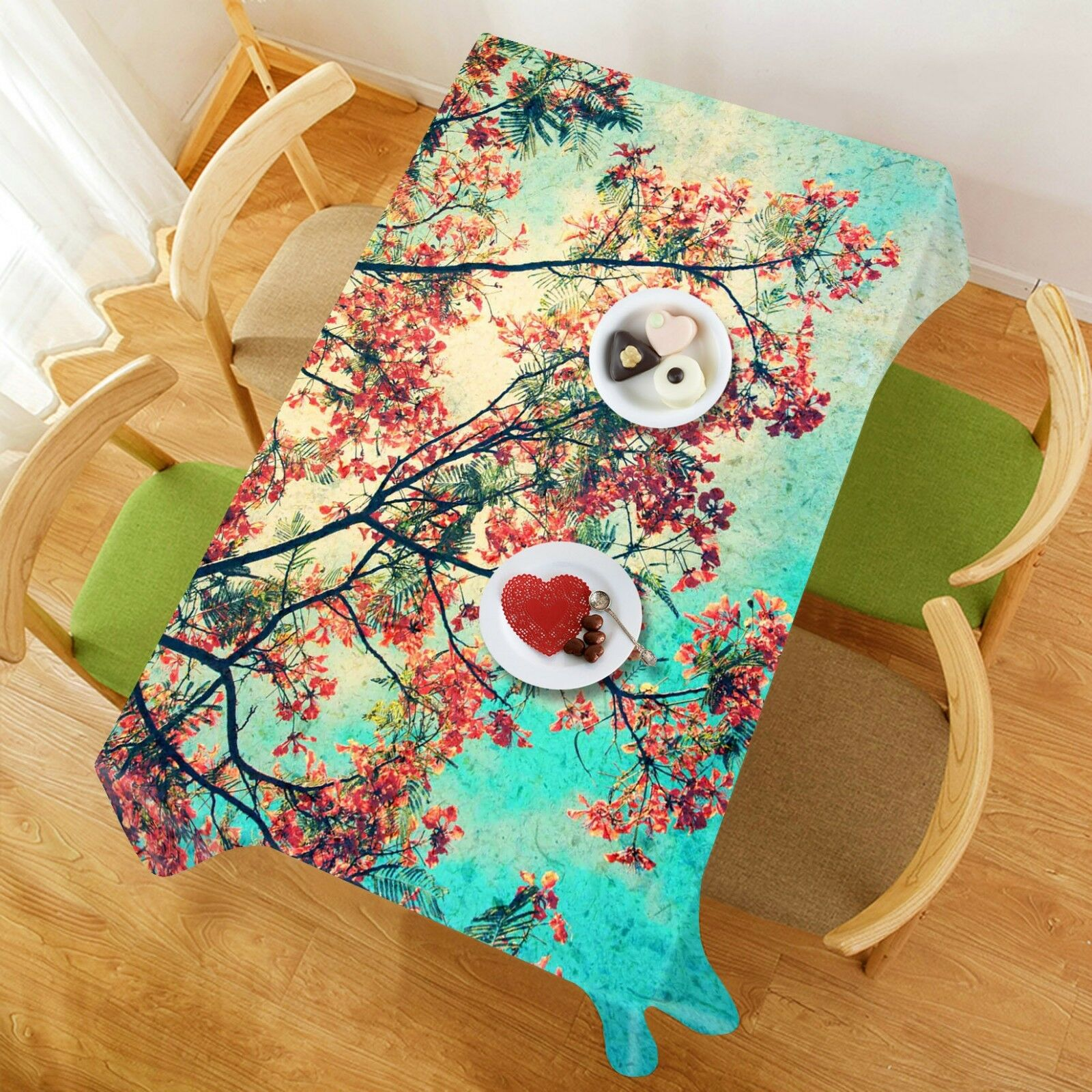 3D Squid Bloom 106 Tablecloth Table Cover Cloth Birthday Party Event AJ Lemon