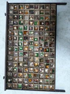 Big-Vintage-COLOR-WATCH-CRYSTALS-Lot-PURPLE-AMBER-GREEN-NOS