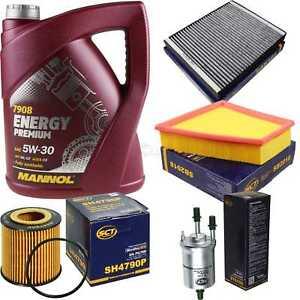 Olwechsel-Set-5L-MANNOL-Energy-Premium-5W-30-Motoroel-SCT-Filter-KIT-10754664
