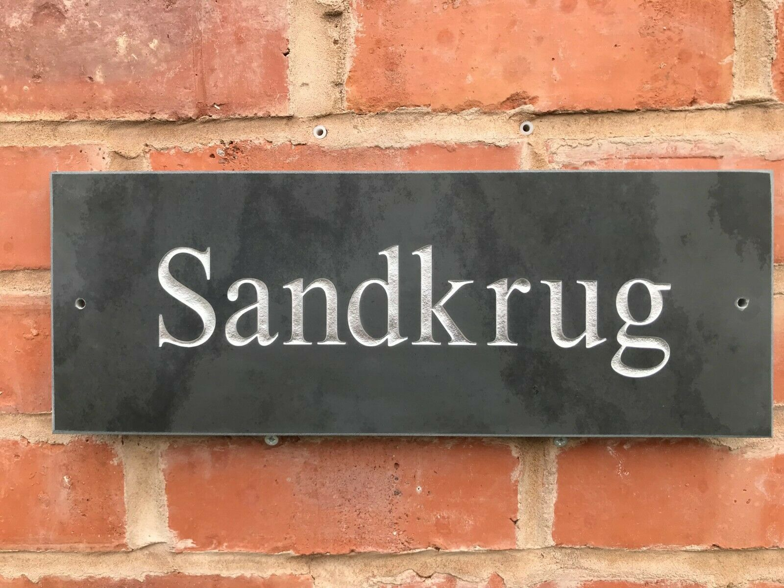 PREMIUM LARGE SLATE HOUSE SIGN 16  X 6  ANY NAME ANY NUMBER